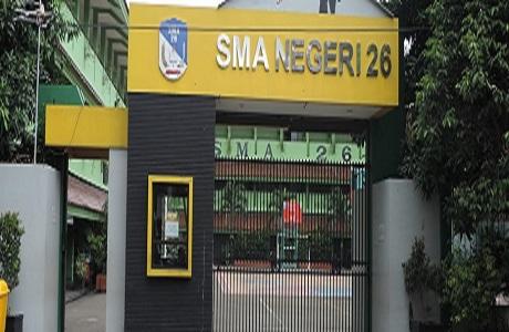 Pintu Gerbang SMA Negeri 26 Jakarta Selatan